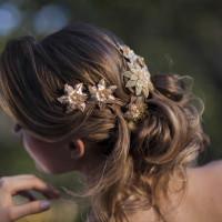 Flor de Filigrama Dourada